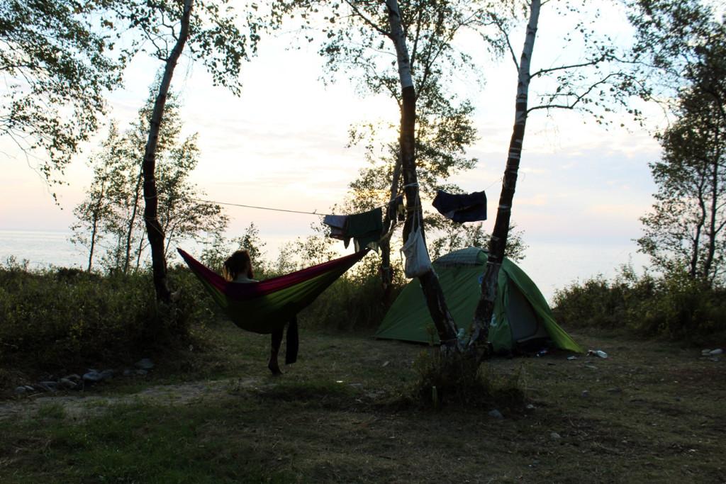 Camping near Baikal