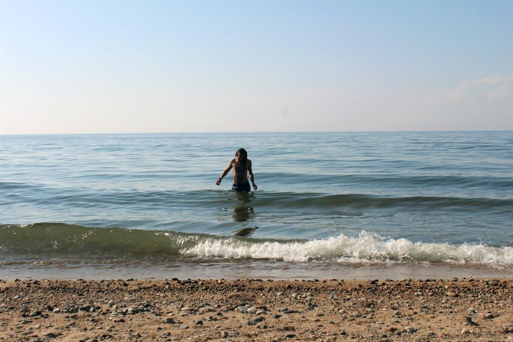 Swimming in Lake Baikal