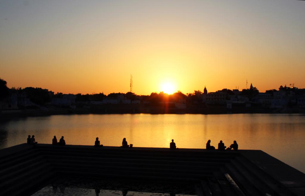 Pushkar'da günbatımı