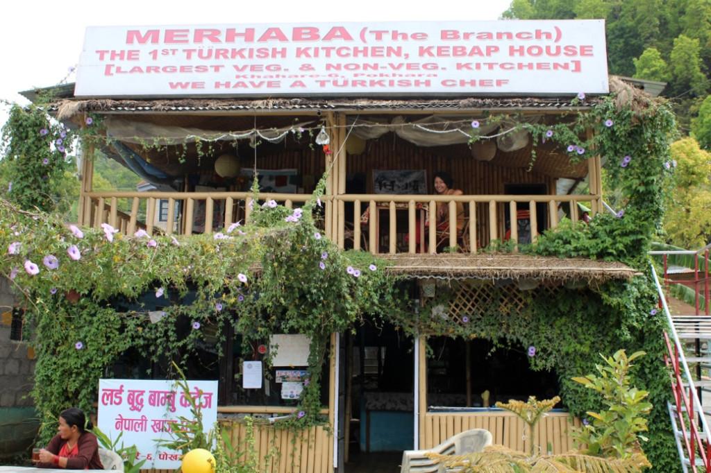 A Turkish restaurant in Pokhara