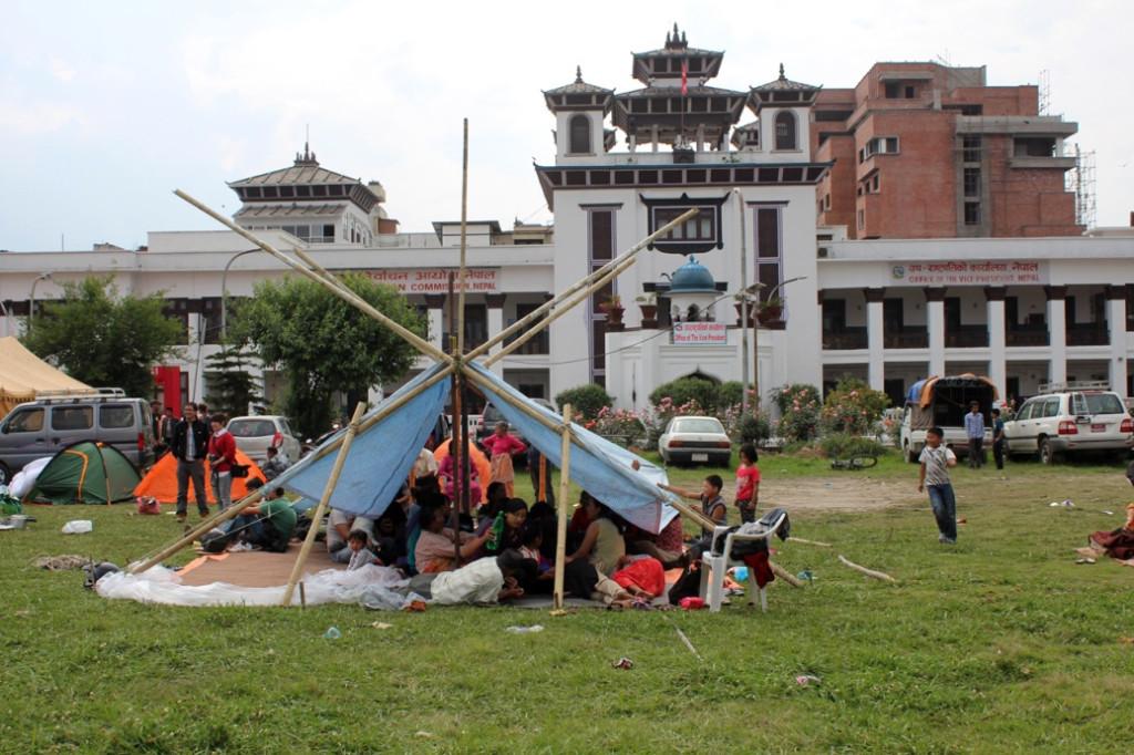 Mimarlık sanatını sergileyen bir çadır