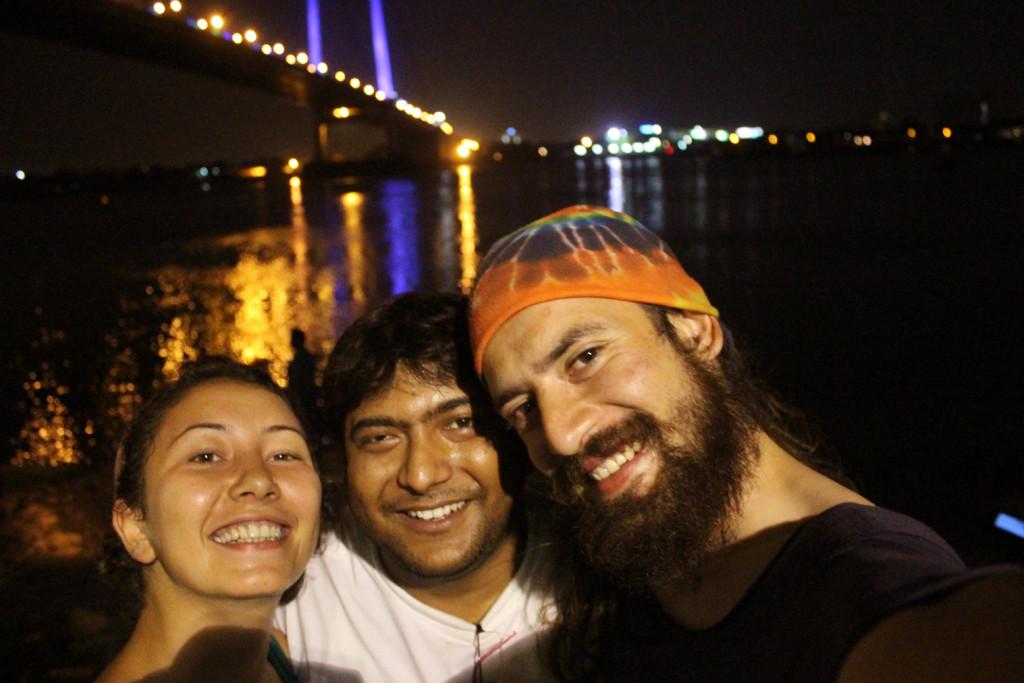 At the bank of Ganga in Kolkata with Pankaj