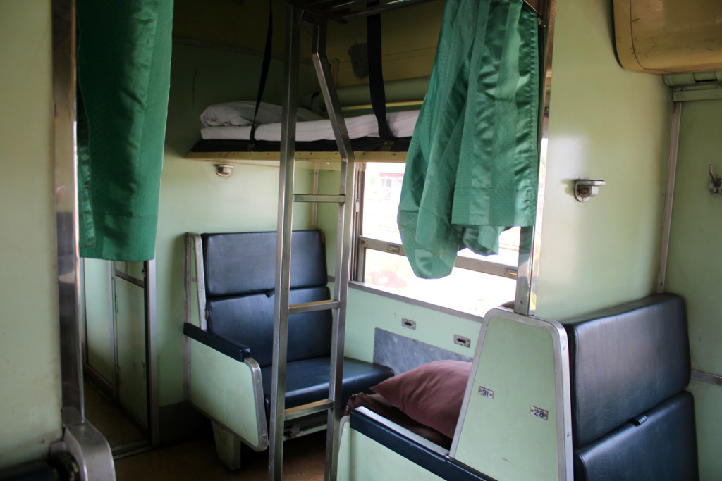 Our comfortable bed in the train