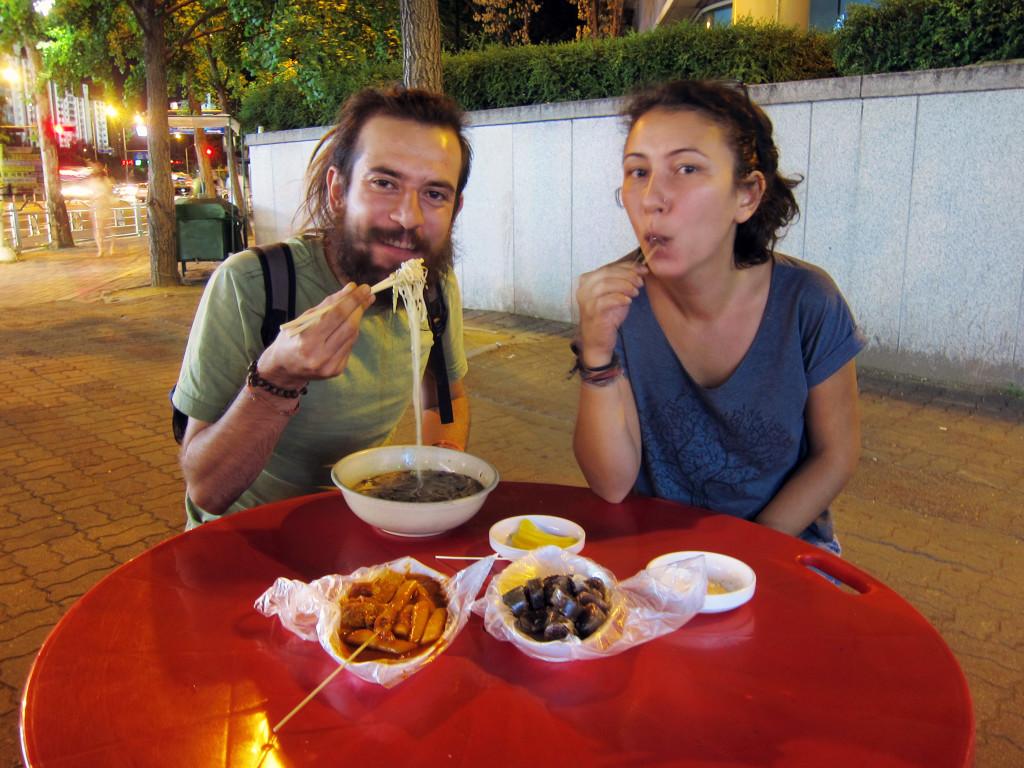 Vegetarian street food in Seoul