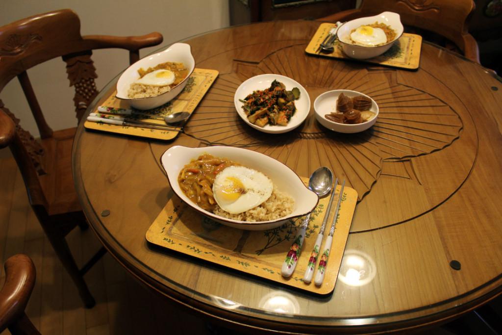 Vegetarian home-made food in Seoul