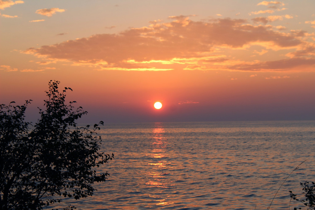 Baykal'da günbatımı